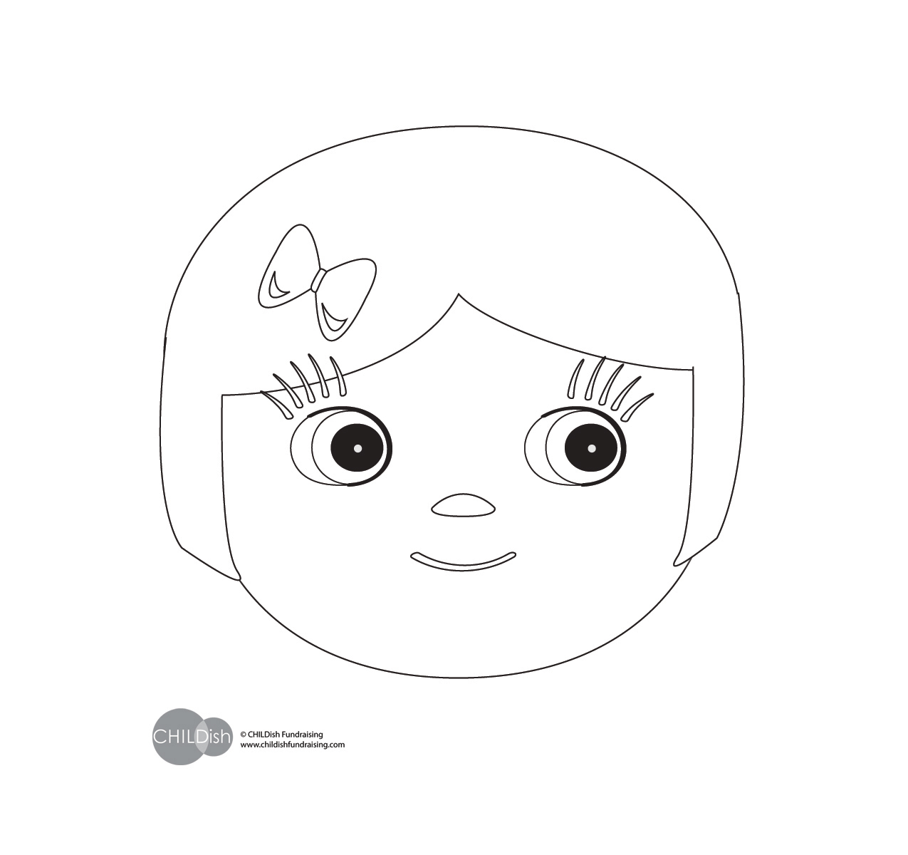girls face coloring pages - photo#35
